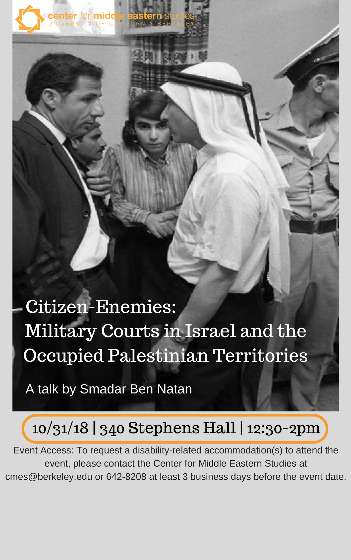 Poster: Citizen Enemies: Military Courts in Israel and the occupied Palestinian Territories