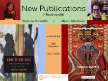 Poster for New Publications: A reading with Stefania Pandolfo and Minoo Moallaem